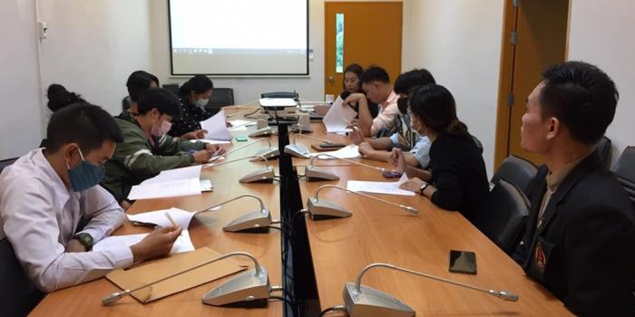 ร่วมประชุมพนักงานโครงการว่างงานฯ โครงการพัฒนาการท่องเที่ยวชุมชน